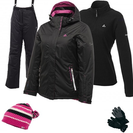 Dare2b Fluctuate Women's Ski Wear Package - Black