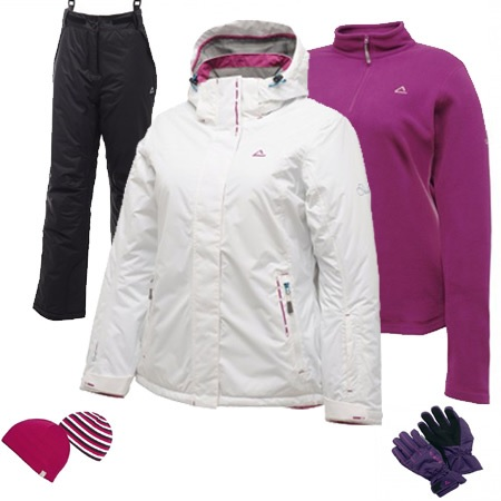 Dare2b Fluctuate Women's Ski Wear Package - White