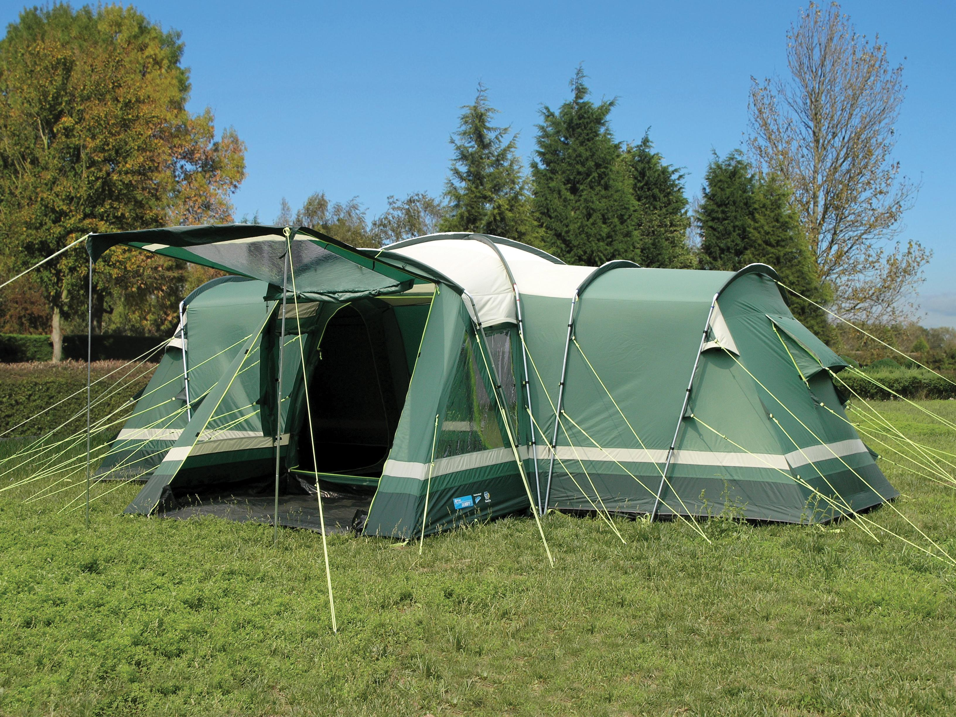 Kampa Tenby 6 Family Tunnel Tent with FREE Footprint & Carpet