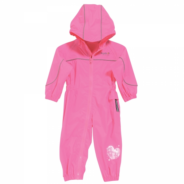 Regatta Puddle II Toddler's Waterproof Suit - Lipstick