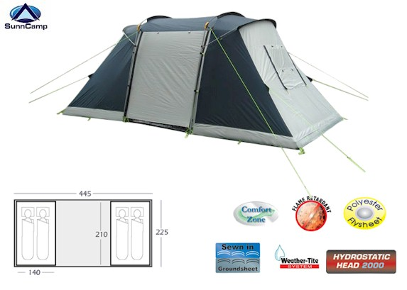 Sunncamp Silhouette 400 Tunnel Tent