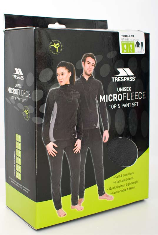 Trespass Thriller Unisex Thermal Base Layer Set