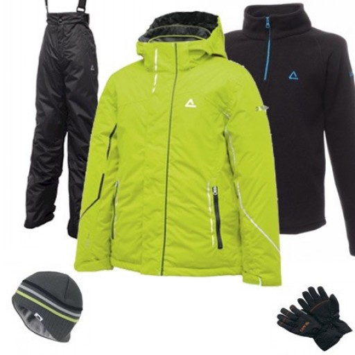 Dare2b Think Out Boy's Ski Wear Package - Lime