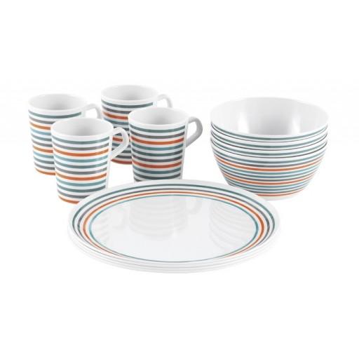 Easy Camp 4-Person Melamine Dish Set