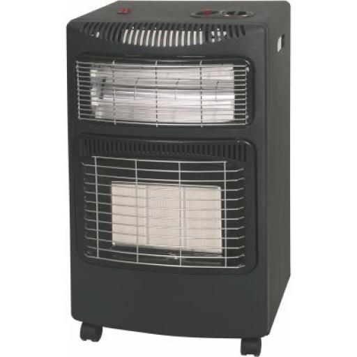 Kingavon 4.2kW Portable Gas Cabinet With Quartz Heater