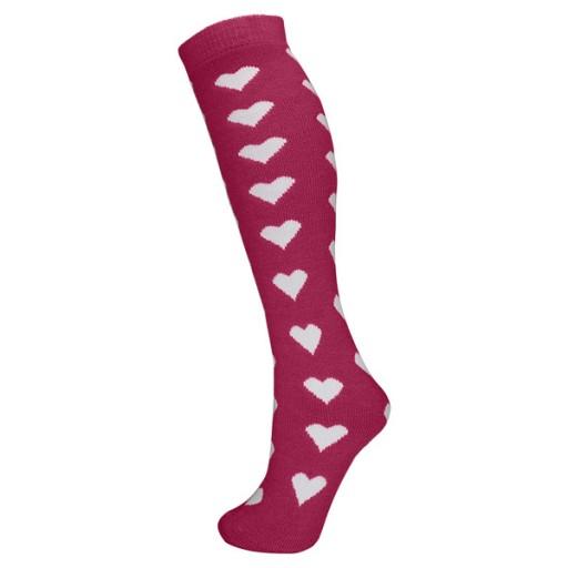 Manbi Women's Patterned Ski Tubes - Hearts Magenta