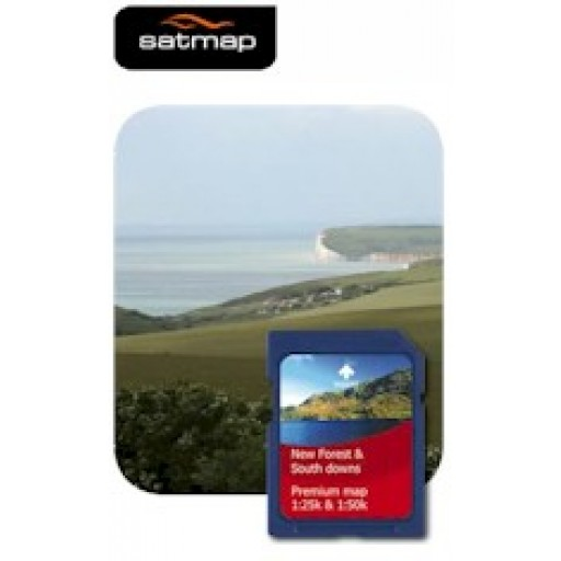 Satmap New Forest & South Downs 1:25k & 1:50k Map Card