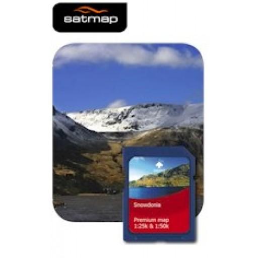 Satmap National Parks Premium - Snowdonia 1:25k & 1:50k Map Card