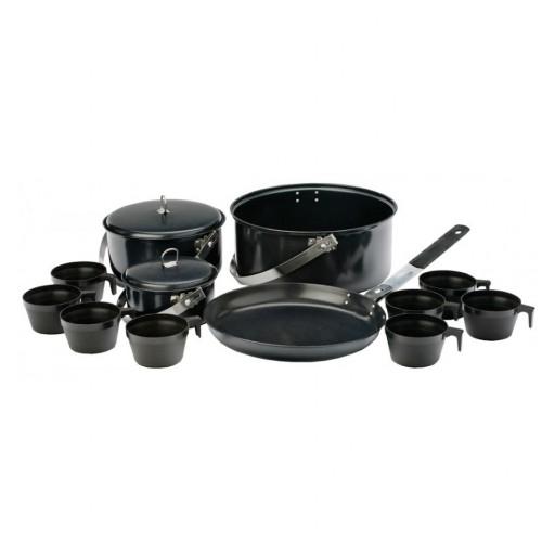 Vango Non-Stick Steel Cook Set - 8 Person