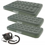 Coleman Comfort Airbed Deal - 1 Double + 2 Single with FREE Coleman 12v Quickpump