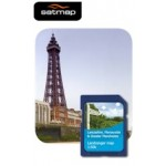 Satmap English Counties - Lancashire, Merseyside, Manchester 1:50k Map Card