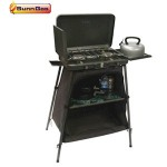 SunnGas Cuisine Chef Double Burner w/ Stand & Larder