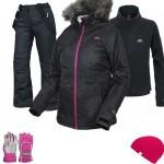 Trespass Sugarloaf Women's Ski Wear Package - Black