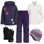 Trespass Candy Pop Girl's Ski Wear Package - Wildberry