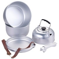 Megastore Aluminium Camping Cook Set