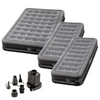 Outwell Flocked Excellent Airbed Deal - 1 Double + 2 Single with FREE Outwell Sky Pump