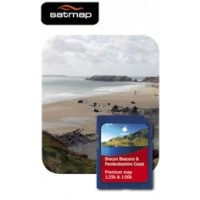 Satmap Brecon Beacons & Pembroke Coast 1:25k & 1:50k Map Card