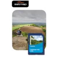 Satmap English Counties - Cheshire 1:50k Map Card