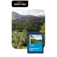 Satmap English Counties - Cumbria 1:50k Map Card