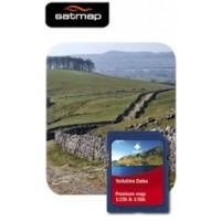 Satmap Yorkshire Dales 1:25k & 1:50k Map Card