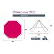 Trigano Cherokee 500 Tipi Tent