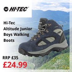 hi tec altitude junior boys walking boots