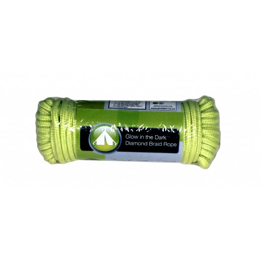 "Yellowstone 3/16"" Glow In the Dark Rope 15m (50ft)"