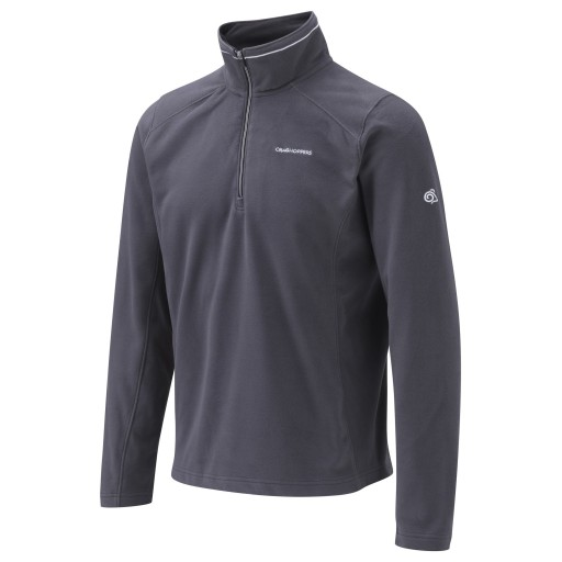 Craghoppers Corey III Men's Microfleece Pullover - Black Pepper