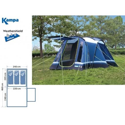 Kampa Frinton 3 Family Tunnel Tent - 2011 Model