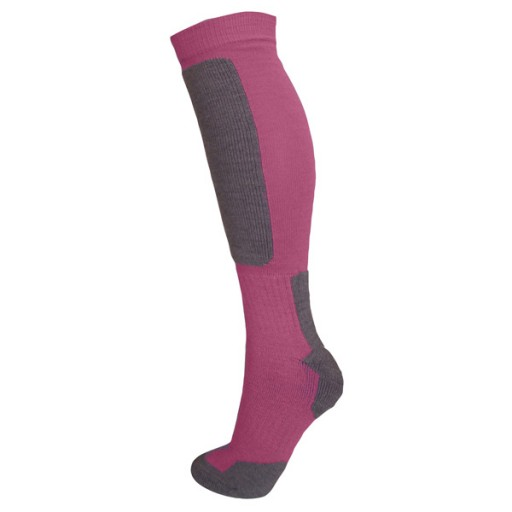 Manbi Snow-Tec Adult Technical Ski Socks - Fuchsia/Grey