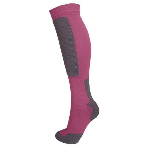 Manbi Snow-Tec Junior Technical Ski Socks - Fuchsia/Grey
