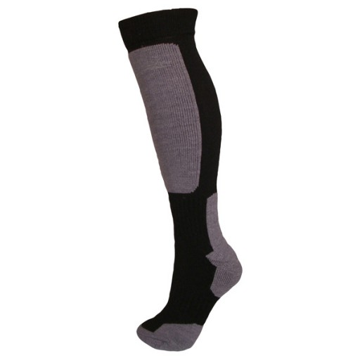 Manbi Snow-Tec Adult Technical Ski Socks - Black/Grey