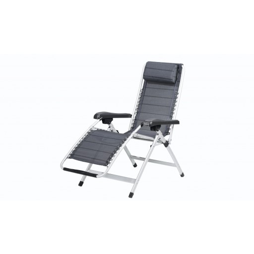 Outwell Hudson Arm Chair with Leg Rest - Titanium