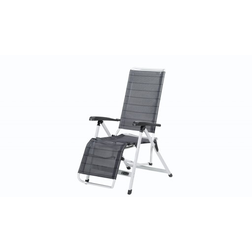 Outwell Nova Multi-Position Arm Chair with Leg Rest - Titanium