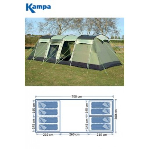Kampa Pendine 8 Family Tunnel Tent - 2011 Model