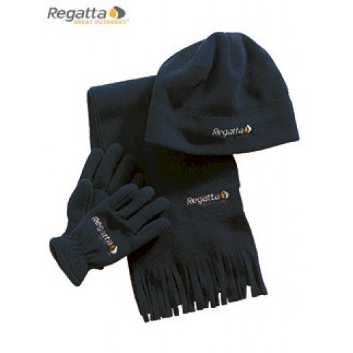 Regatta Brooklyn Hat, Glove, Scarf Set for Boys - Navy