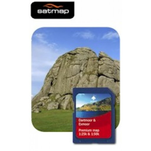 Satmap Dartmoor & Exmoor 1:25k & 1:50k Map Card