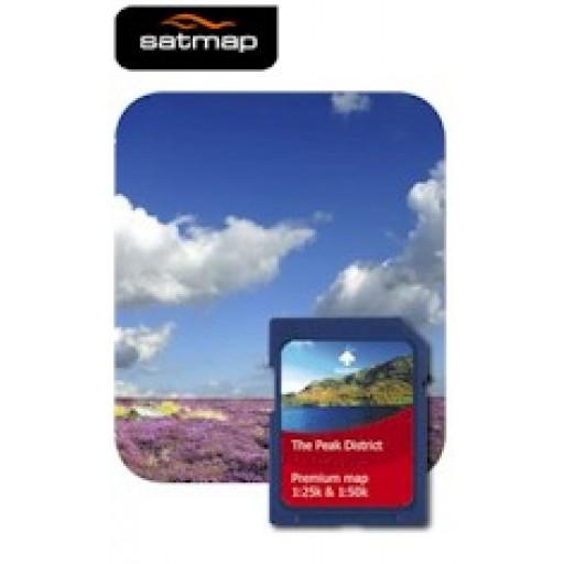 Satmap National Parks Premium - Peak District 1:25k & 1:50k Map Card