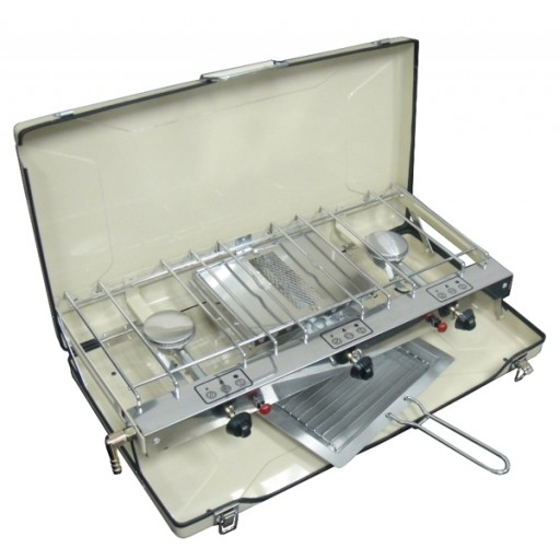 Sunngas Foldaway Double Burner & Grill