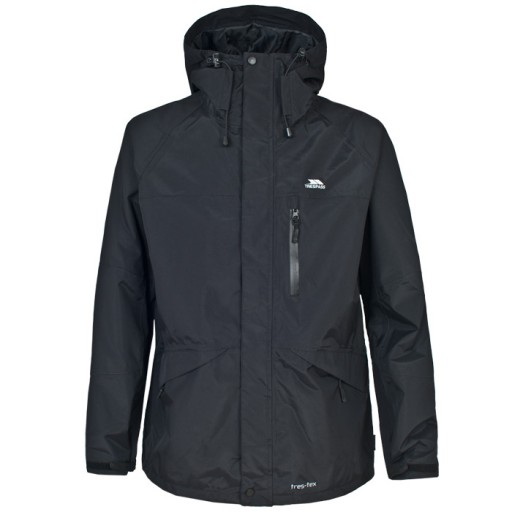 Trespass Corvo Men's Waterproof Jacket - Black