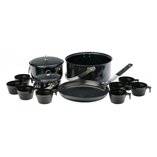 Vango Non-Stick Steel Cook Set - 8 Person