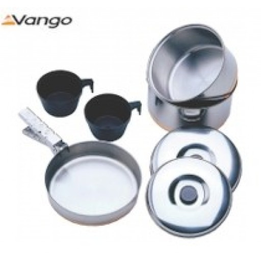Vango Stainless Steel Cook Set - 8 Person