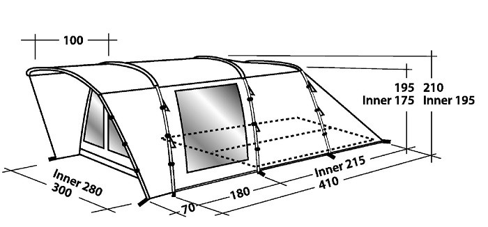 Easy C& Boston 500 Tent Easy C& Boston 500 Tent ...  sc 1 st  Outdoor Megastore & Easy Camp Boston 500 Tent by Easy Camp for £330.00