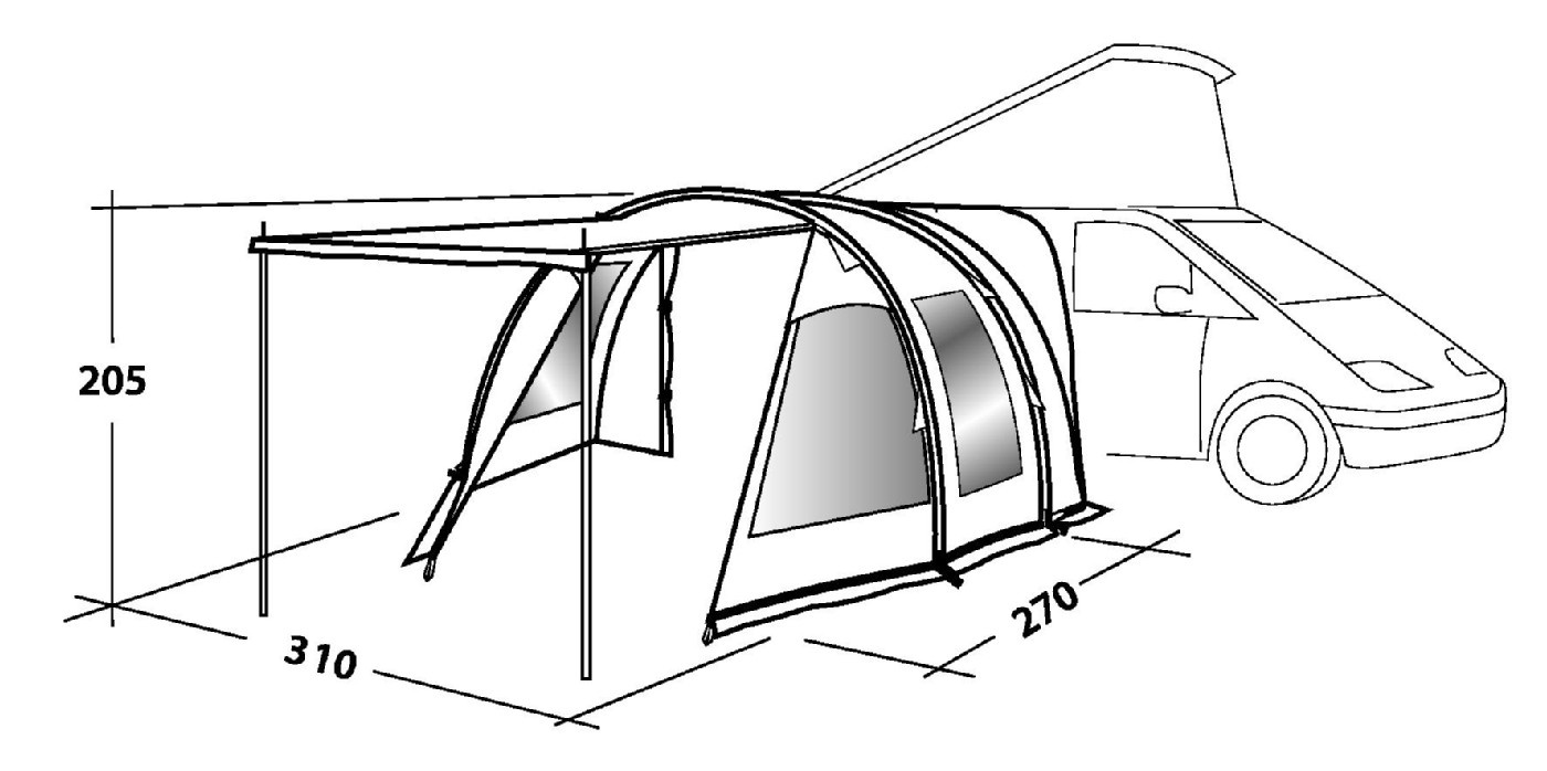 Easy Camp Silverstone Motorhome Awning By Easy Camp For 163