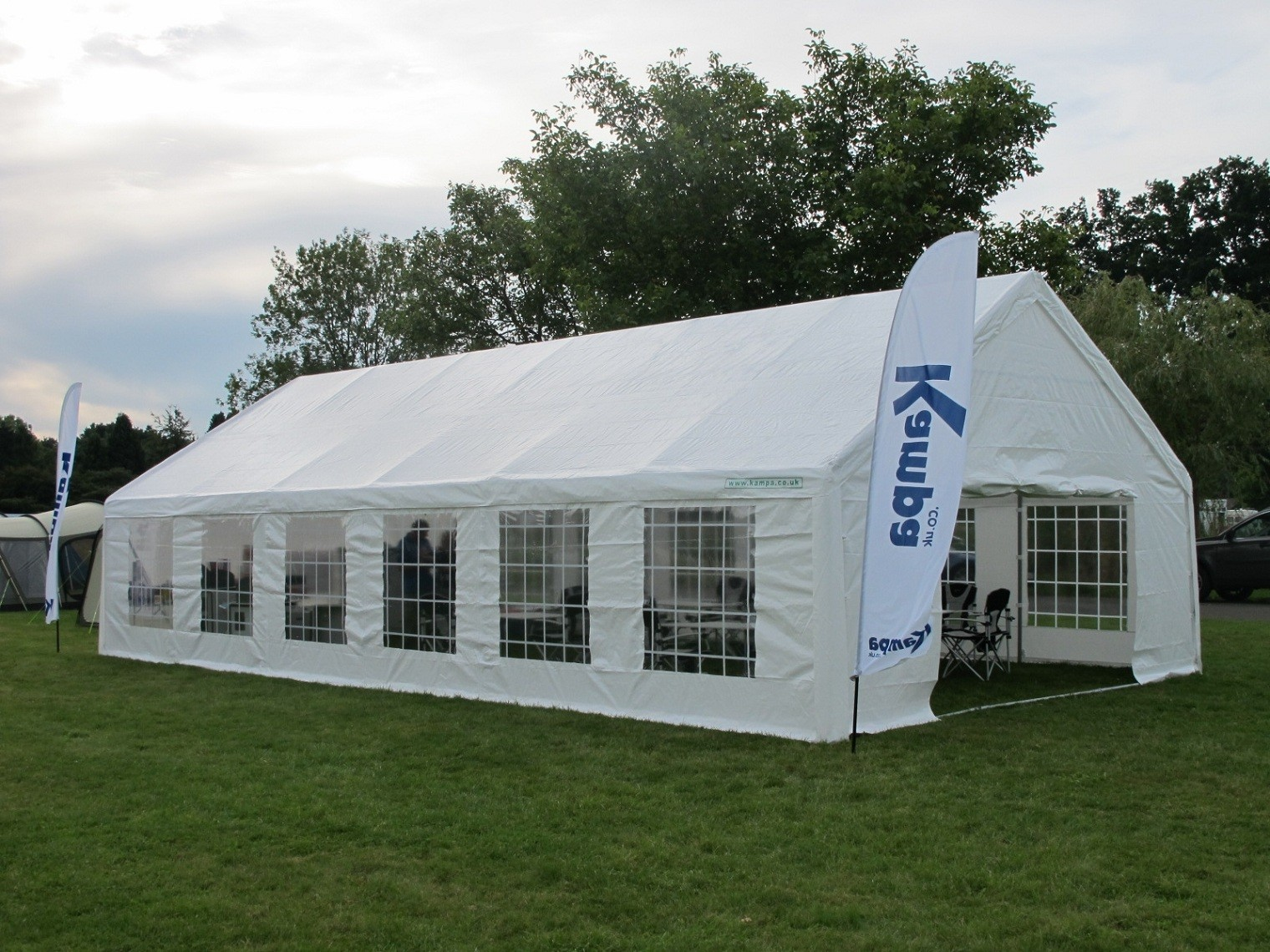 kampa original party tent 4m x 8m by kampa for. Black Bedroom Furniture Sets. Home Design Ideas