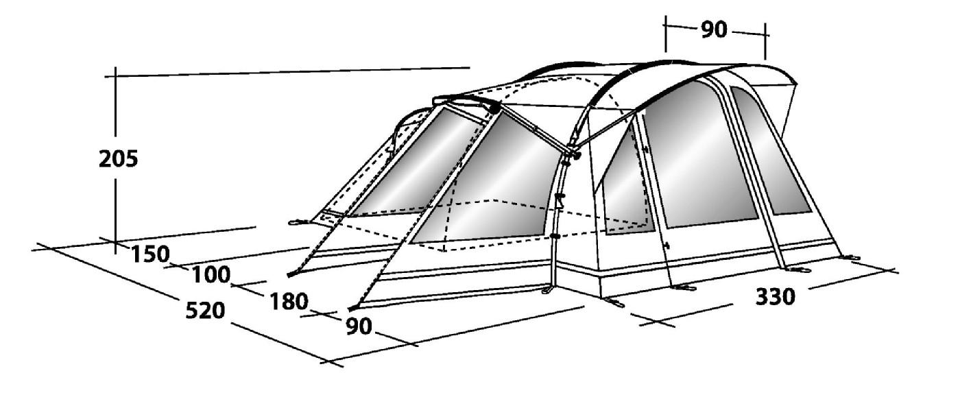 sc 1 st  Outdoor Megastore & Outwell Montana 4 Tent