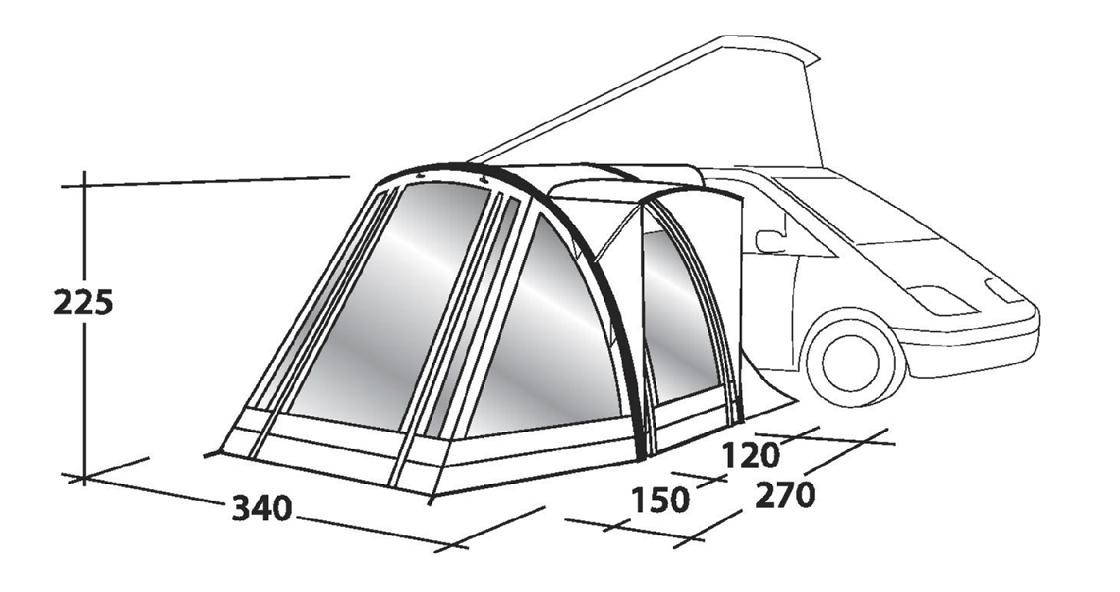Outwell San Diego Freeway Motorhome Awning from Outwell ...