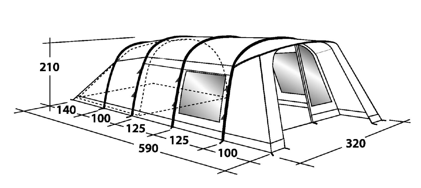 Outwell Whitecove 5 Tent