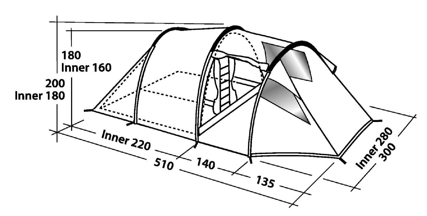 Robens Double Dreamer Tunnel Tent from Robens for £500.00