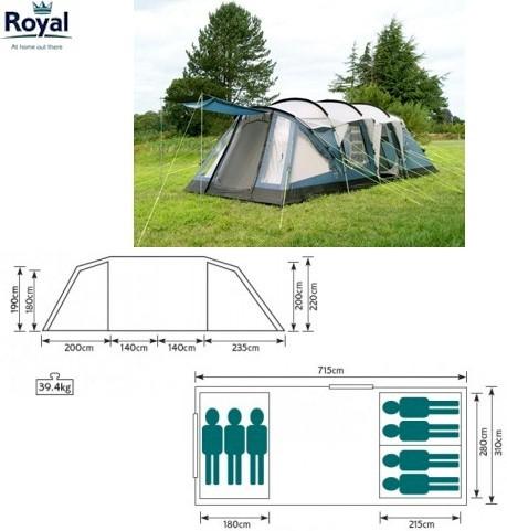 Royal Hampton 7 Tent 108058 Tents By Size